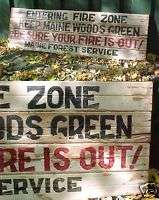 Keep Maine Woods Green Primitive Wooden Sign CAMP