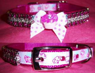 Raspberry Cupcake Crystal Dog Collar/Dog Collar/Custom sizing