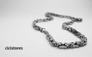 Stainless Steel Box Chain Necklace Bracelet Jewelry Set