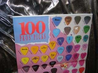 1989 100 Pros Pick ACTUAL Steve Clarks Def Leppard Metal Guitar Pick
