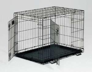 MIDWEST LIFE STAGES DOUBLE DOOR DOG CRATE 48 1648 NEW