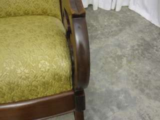 Antique Dark Walnut Bentwood Rocker w Extra Nice Upholstery MUST SEE