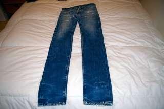 DIOR HOMME MIJ Japan 19cm Brut Blue Jeans Denim 29 Distressed Washed