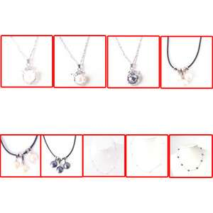 HANDMADE FASHION WOMENS CHARM NATURAL PEARL CRYSTAL NECKLACE PENDANT