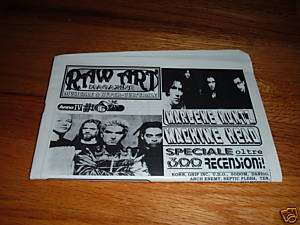 RAW ART Metal Zine MACHINE HEAD Slipknot GAMMA RAY Korn