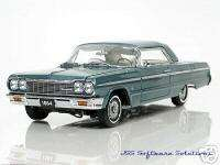 1964 Chevy SS Impala Coupe in Lagoon Aqua by WCPD 1:24