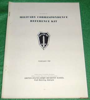 MILITARY CORRESPONDENCE KIT FORT BENNING GA 1966