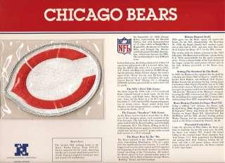 CHICAGO BEARS OFFICIAL NFL FOOTBALL TEAM EMBLEM PATCH