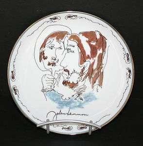 Beatles John Lennon Art LOOKING BACK Collector Plate