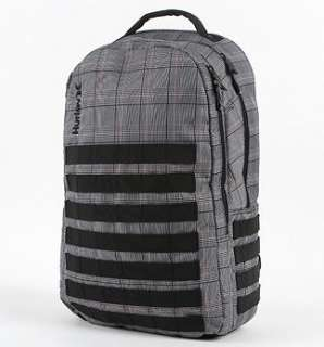Hurley Oxford Plaid Backpack Laptop Bag Plaid School NEW