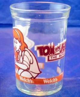 Welchs Tom And Jerry The Movie Collectable Jelly Jar Glass Girl 1993