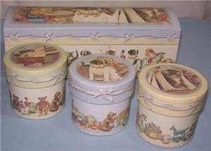Baby Gund Nursery TRINKET BOX Gund Boy or Girl 4 pc.