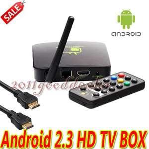 TV BOX Android 2.3 Full HD 1080P HDMI Google WIFI Media Player Inter