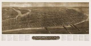 Old Map Atlantic City New Jersey 1910 Atlantic County