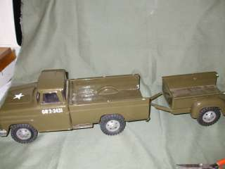 Tonka Army Truck/ trailer/restored