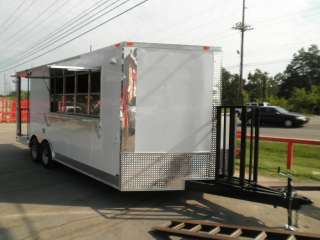 20 WHITE FOOD ENCLOSED CONCESSION BBQ EVENT ENCLOSED SMOKER TRAILER