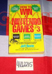 NINTENDO BOOK HOW TO WIN AT NINTENDO GAMES #3