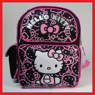 12 Hello Kitty Black Glitter Backpack   Girls Bag Toddler Girls