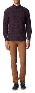FRED PERRY Culloden tartan regular fit single cuff shirt