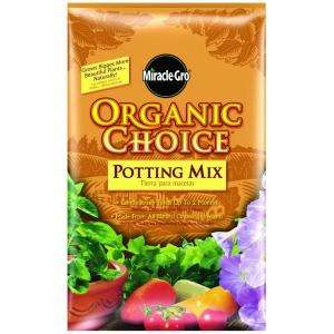 Miracle Gro Organic Choice 32 qt. Potting Mix 72983650 at The Home