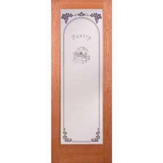 Feather River Doors Pantry 36 in. x 80 in. StainTru Cherry Slab Door