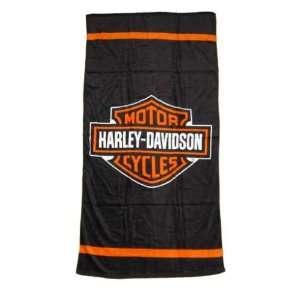 Harley Davidson Badetuch Logo  Sport & Freizeit