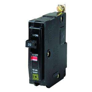 Square D by Schneider Electric QO 20 Amp Single Pole Bolt On QOB120 at