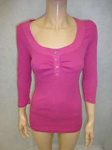 Charlotte Tarantola Pink Thermal Crystal Button Cotton Long Sleeved