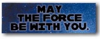 Star Wars MAY THE FORCE BE WITH YOU Logo Sticker NEW