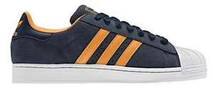 New Adidas Originals Mens SUPERSTAR 2.0 Indigo Blue Shoes Retro