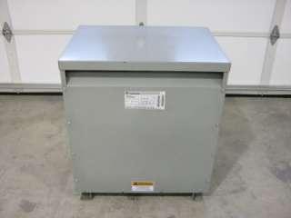 75 KVA Transformer H.V. 480 Delta L.V. 208Y/120 VAC 3 Phase Type QL