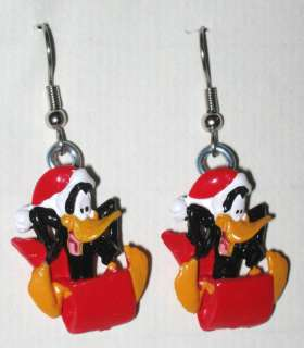 LOONEY TUNES EARRINGS (5 choices) Christmas Toons