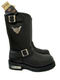 Mega Conductor STEEL TOE Black Leather Boots 91137 WIDE WIDTH