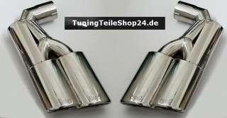 Duplex Doppelrohr Endrohr Sportauspuff f. Porsche Cayenne + Turbo + S