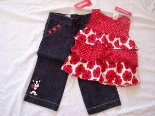 NWT Girls Gymboree Poppy shirt & jeans 18 24 months 2 3