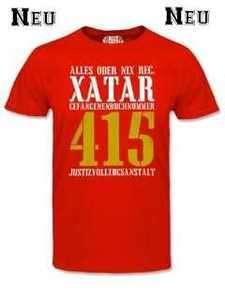 NEU FREE XATAR T Shirt Rot Thug Life Haft Celo Bang 187