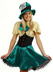Mad Hatter Adult Costume Fancy Dress Up Hen Wonderland