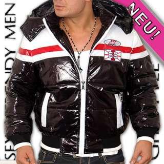 Neu Dicke Herren Kaputzen Winter Lack Jacke M L XL XXL
