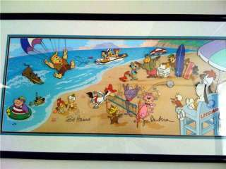 HANNA BARBERA SIGNED LIMITED EDITION CEL SCOOBY SURFING