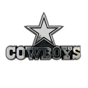 DALLAS COWBOYS NFL NEW Logo Chrome Car Emblem