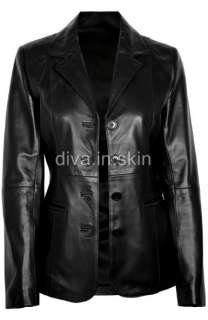 LAMBSKIN LEATHER BIKER WINTER JACKET COAT DESIGNER TAYLOR MADE FIT IN