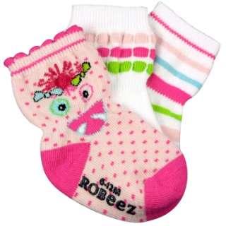 Robeez infant girls socks Monster Girl 3 pairs