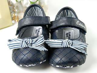 A22 new toddler baby girl blue mary jane shoes 6 18M