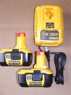 NEW Dewalt Batteries 18V DC9180 LITHIUM ION NANO & DW9310 CHARGER.