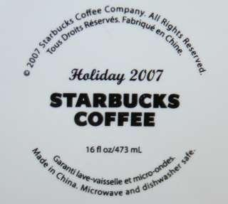 Starbucks Coffee Holiday 2007 Mug tea cup Ice Skaters