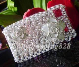 Flower 3D Bow Bling Hard Case Cover For Samsung Galaxy S i9000