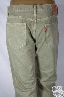 LEVIS JEANS 505 Straight Fit Zipper Fly Silt Beige Denim Mens Pants