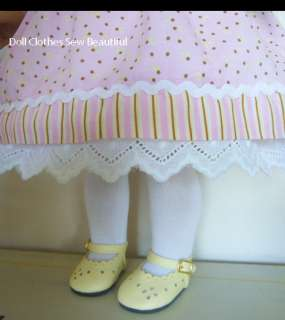 DOLL CLOTHES fits American Girl Lilac/Yellow Dress, Hat
