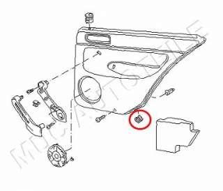 Volkswagen VW Golf 4 IV Lupo Passat Polo Türverkleidung Befestigung