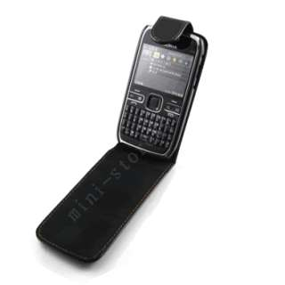 New Leather Case Pouch + LCD Film For NOKIA E72 h